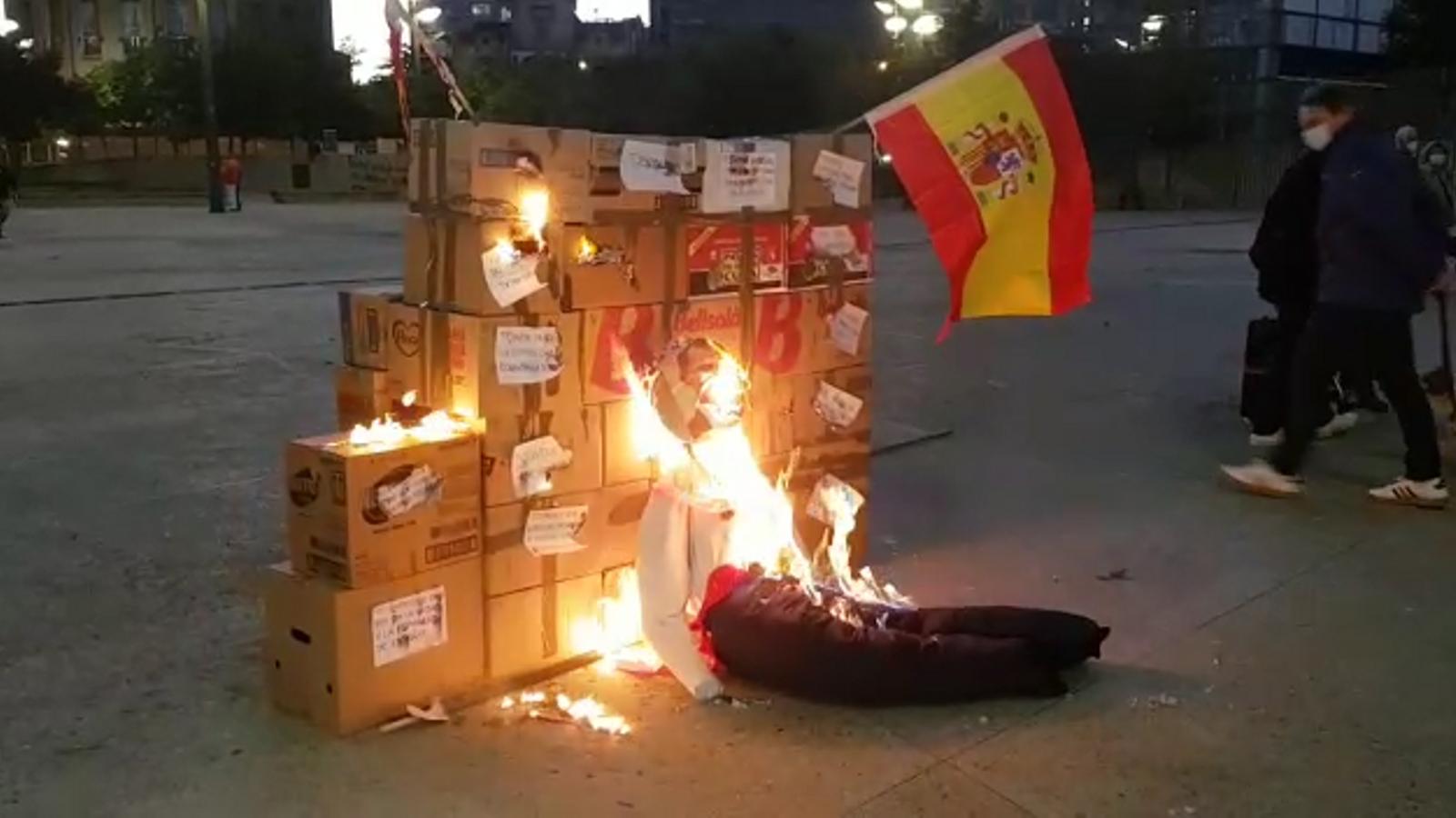 Manifestació a Girona contra el discurs del rei pel 3-O.
