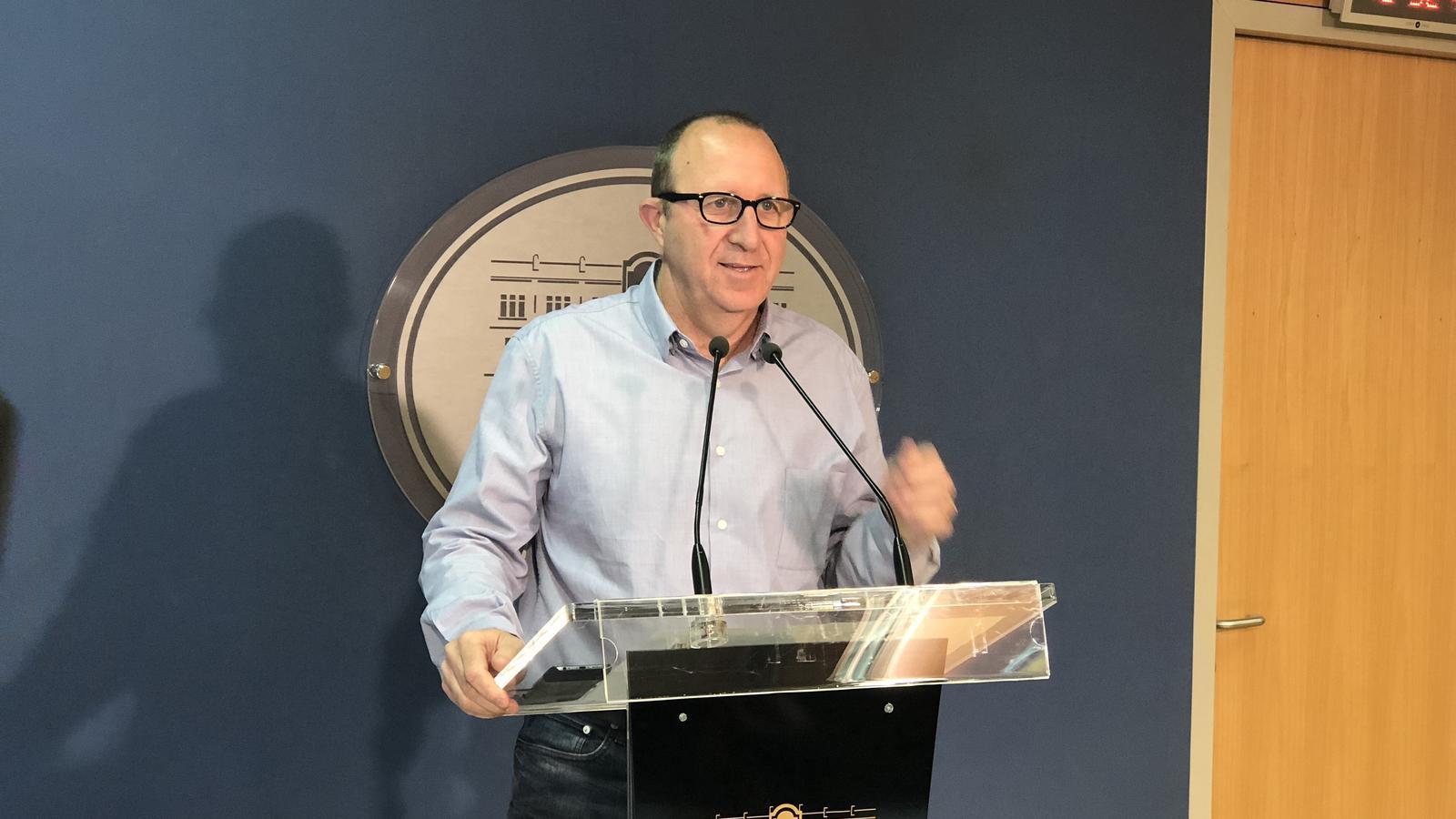 El portaveu del Grup parlamentari socialista, Andreu Alcover.