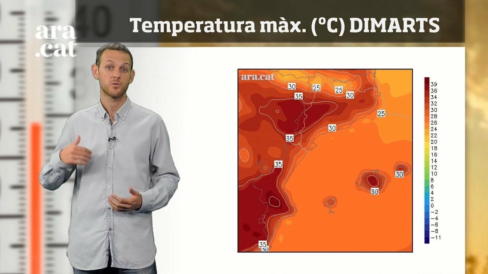 La méteo en 1 minut: Temperatura de més de 35 ºC a l'interior
