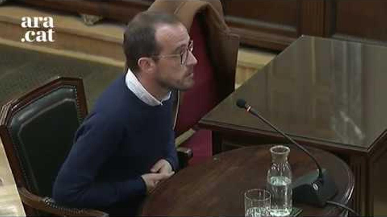 La Fiscalia demana que es dedueixi fals testimoni al jutjat de Guàrdia de Jaume Mestre, responsable de Difusió Institucional de la Generalitat