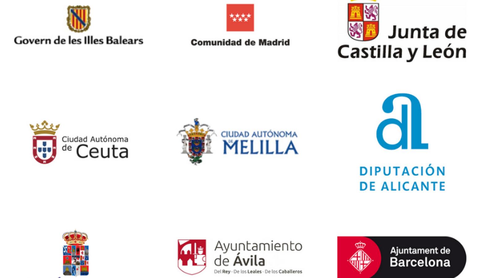 El logo de l'Ajuntament de Barcelona al web d'Espanya Global