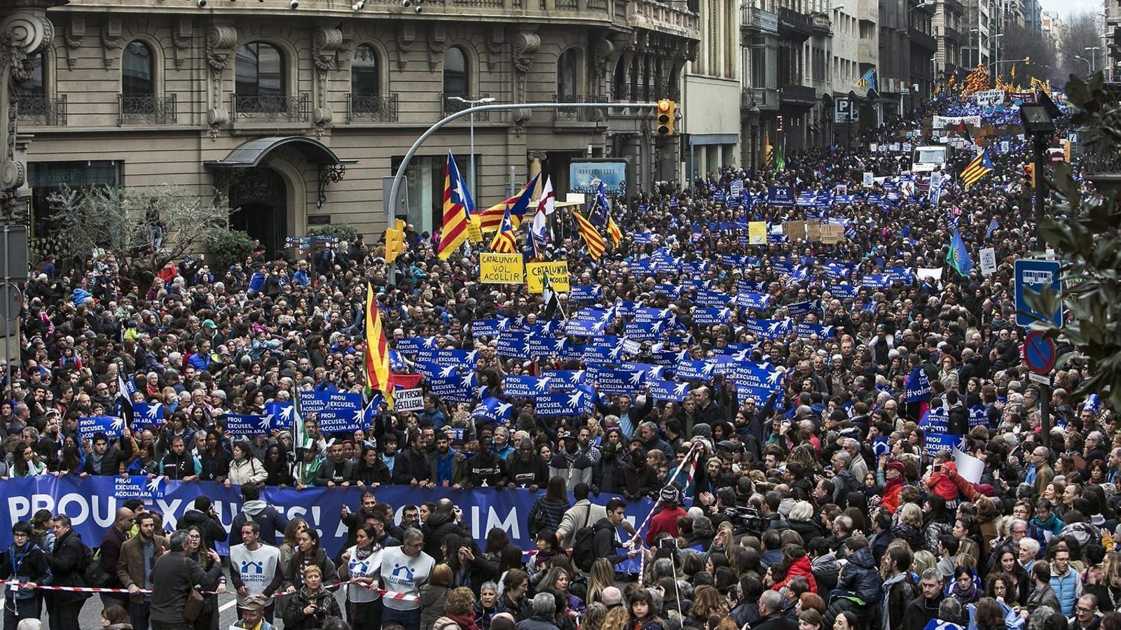 Clam massiu a Barcelona a favor d'acollir refugiats