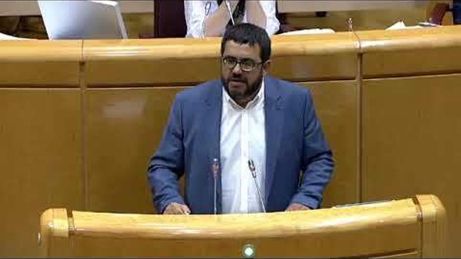 """Vidal, al Senat, sobre el pla de turisme de les Balears: """"El PSIB i el PP no han tengut collons de moure ni un dit"""""""