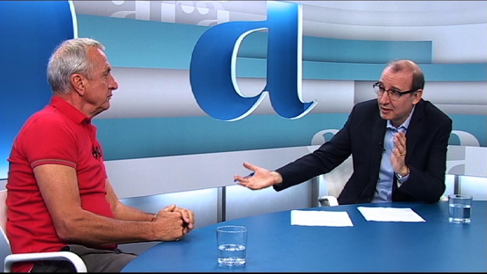 Entrevista d'Antoni Bassas a Johan Cruyff, per 'Ara TV Premium'
