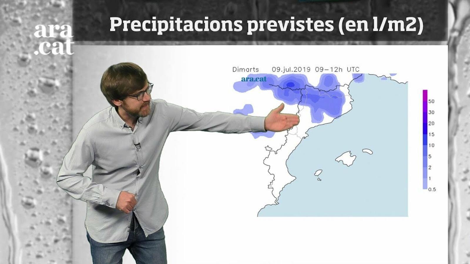 La méteo en 1 minut: tempestes irregulars i temperatures més baixes
