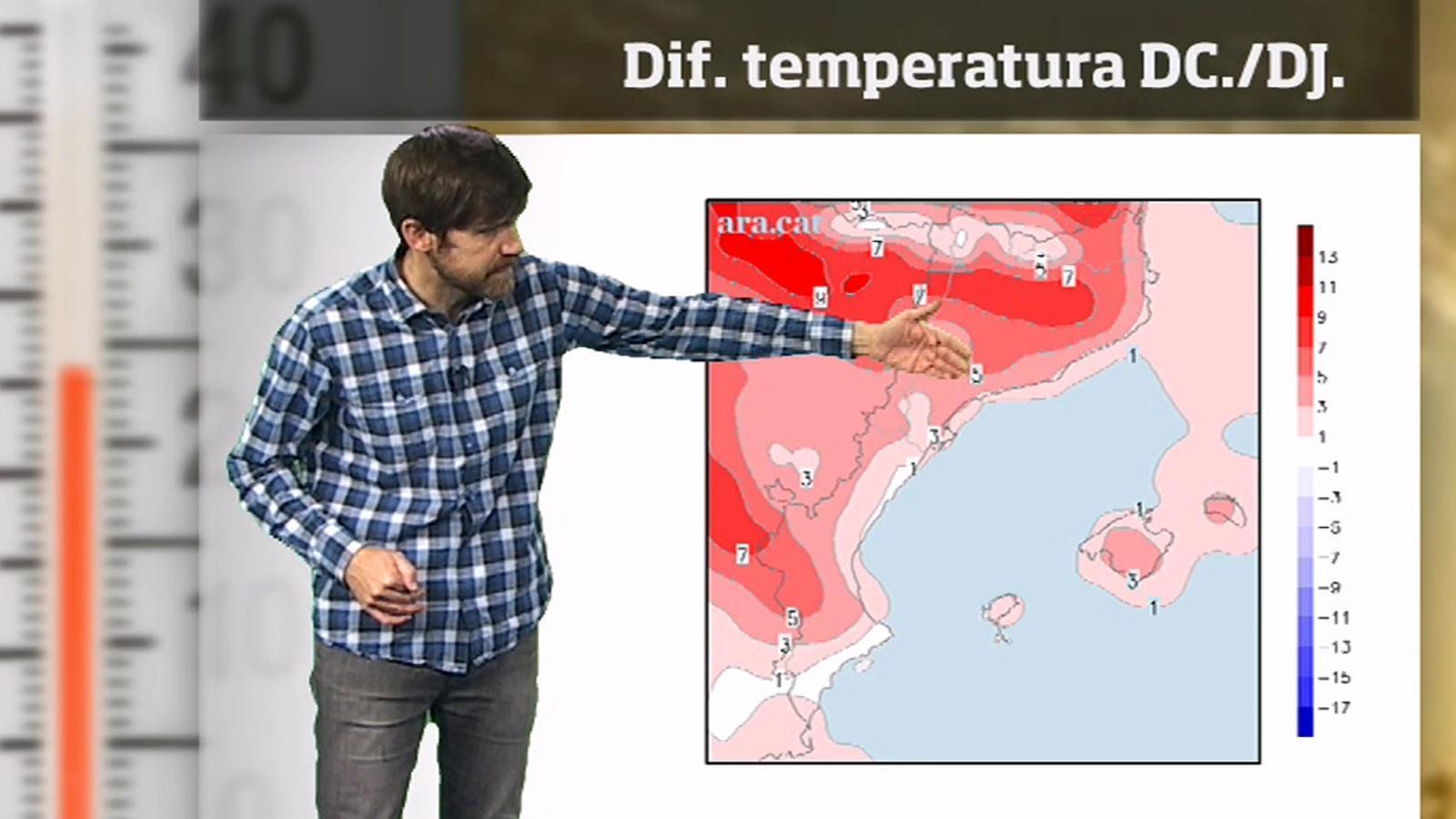 La méteo en 1 minut: dijous serà el dia més càlid i amb més sol de la setmana