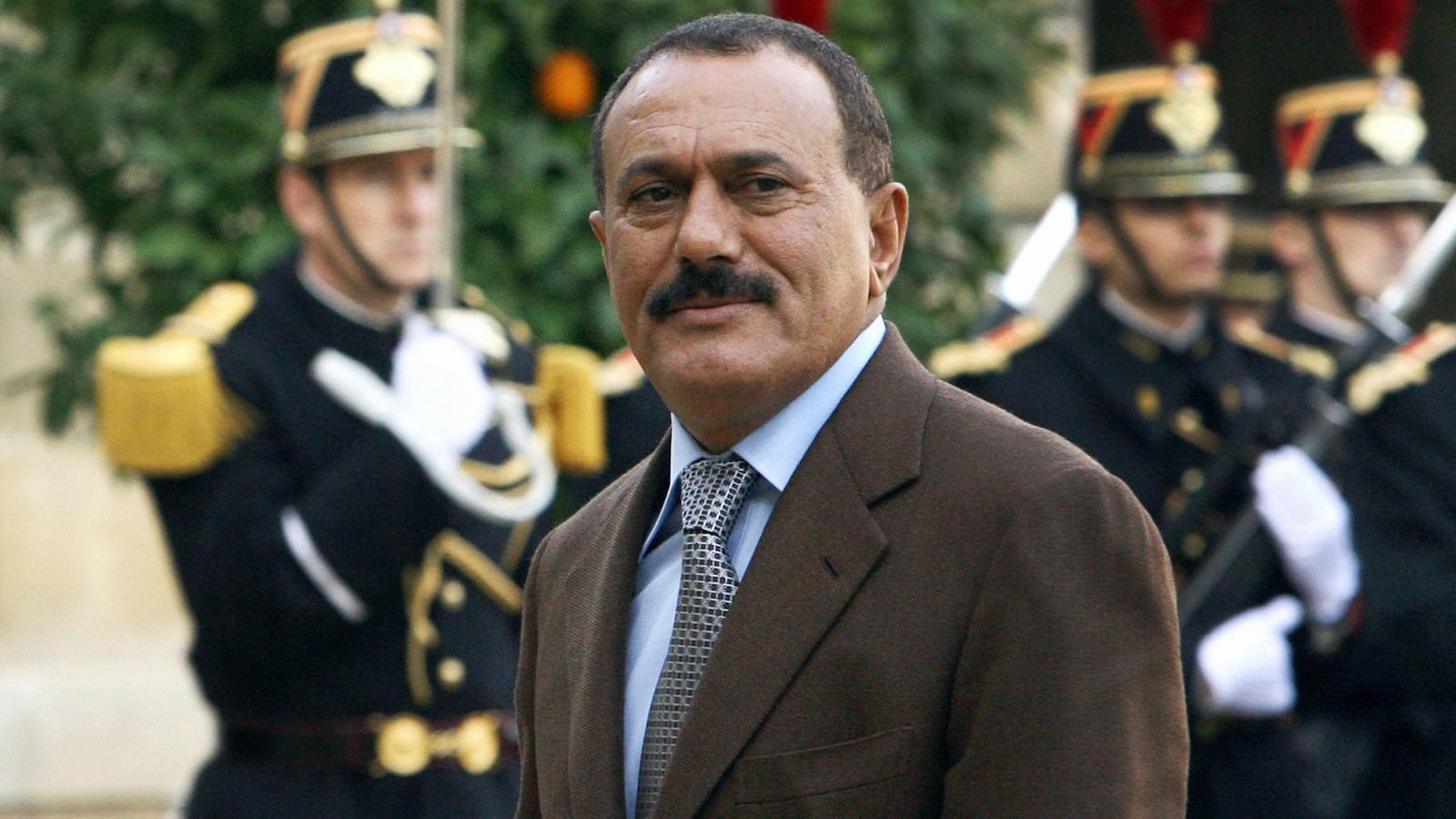El president iemenita, Ali Abdul·lah Sàleh, assassinat dilluns a Sanà, en una foto d'arxiu de l'any 2008.