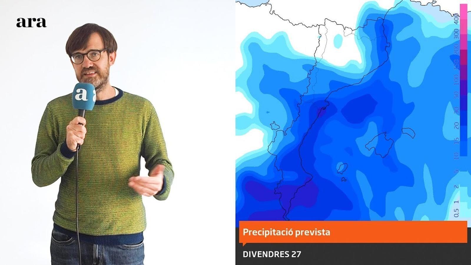La méteo: pluges abundants i molt irregulars a la segona part de la setmana