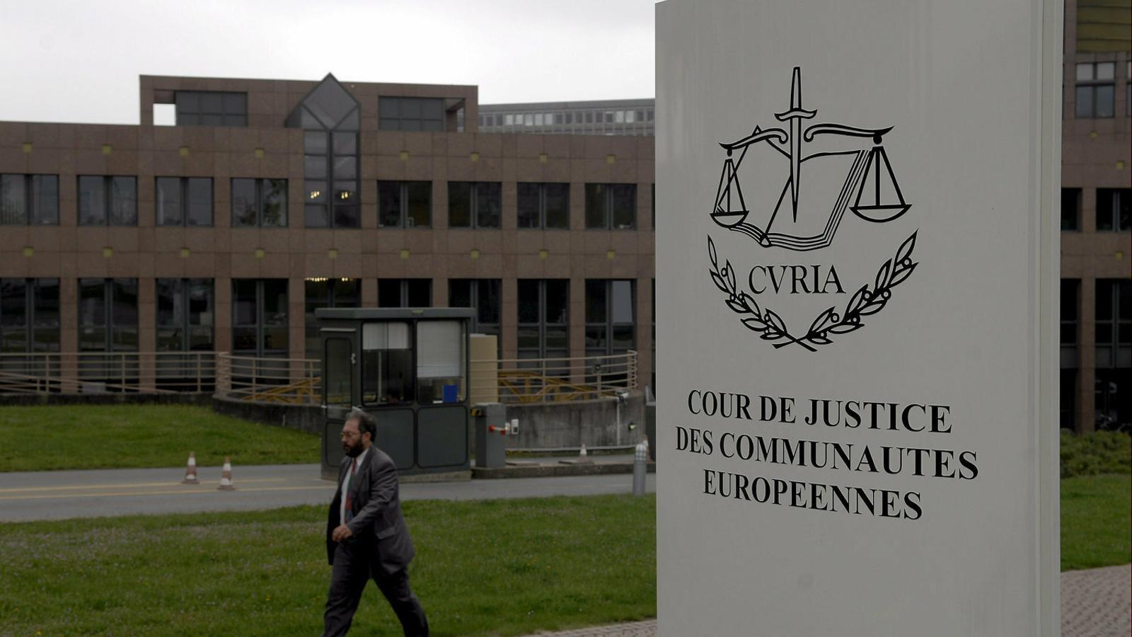 La seu del Tribunal de Justícia de la Unió Europea.