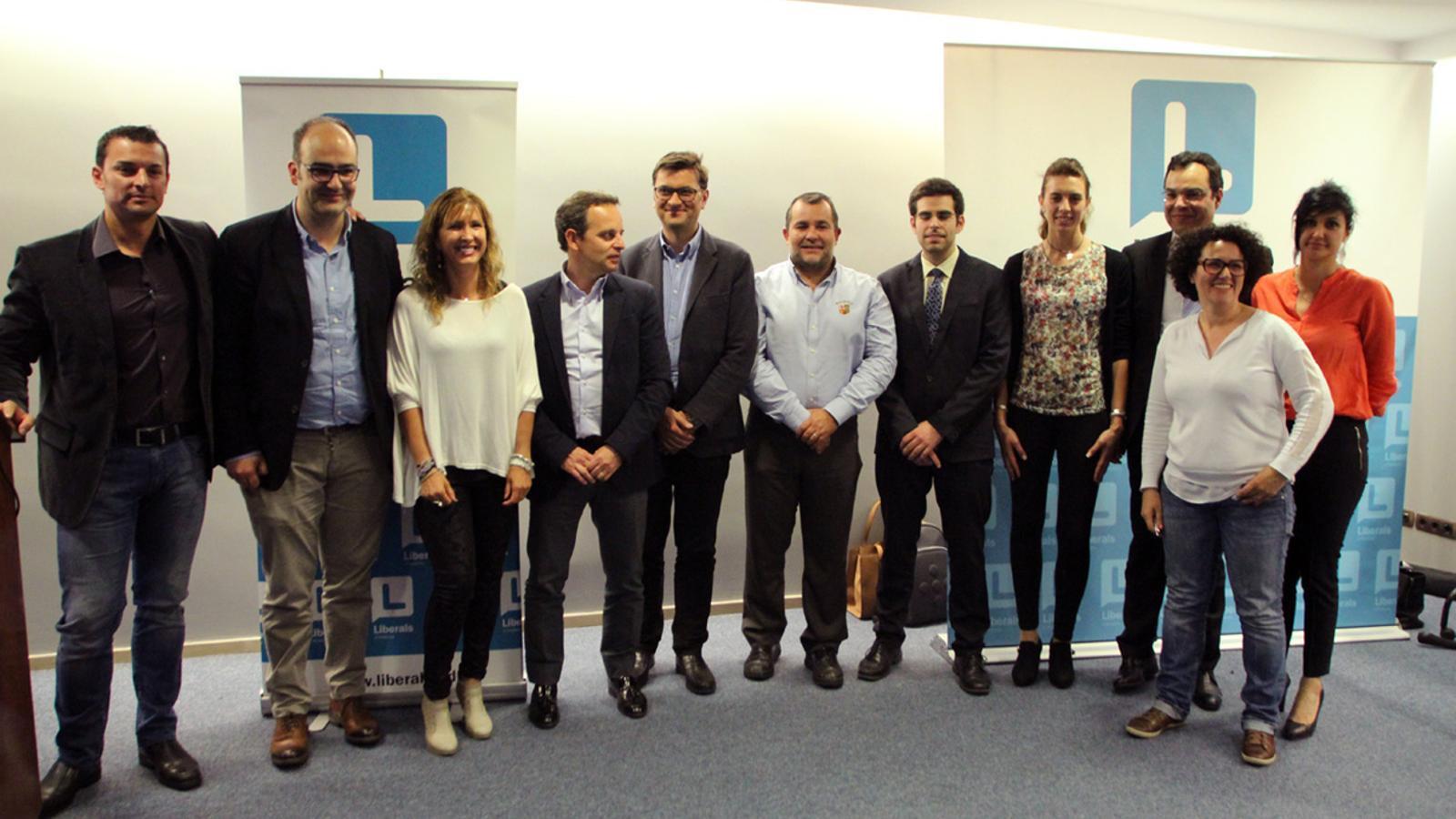 La nova executiva de Liberals d'Andorra, en una foto del 2015. / M. T.