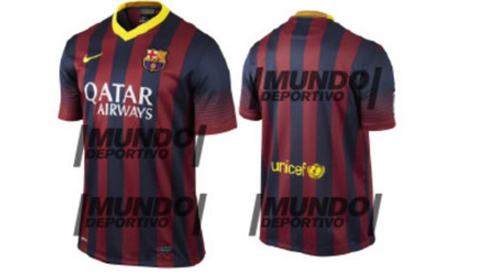 Mundo Deportivo  publica el disseny definitiu de la samarreta del Barça a20ab29ae5f