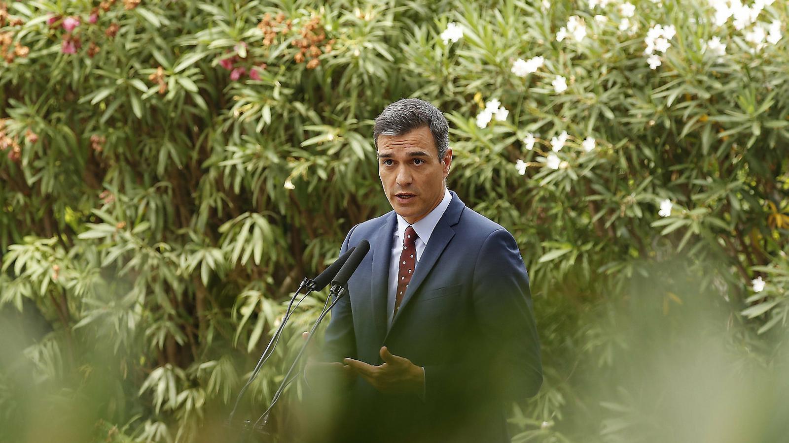 El president del govern espanyol en funcions, Pedro Sánchez, el 7 d'agost.