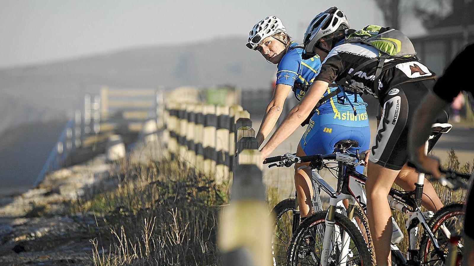 Imatge de la ciclista menorquina Ruth Moll.