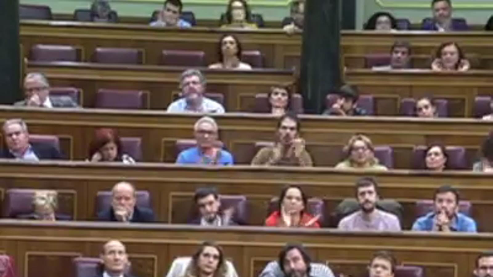 Irene Montero retreu la corrupció al PP al ministre de Justícia, Rafael Catalá