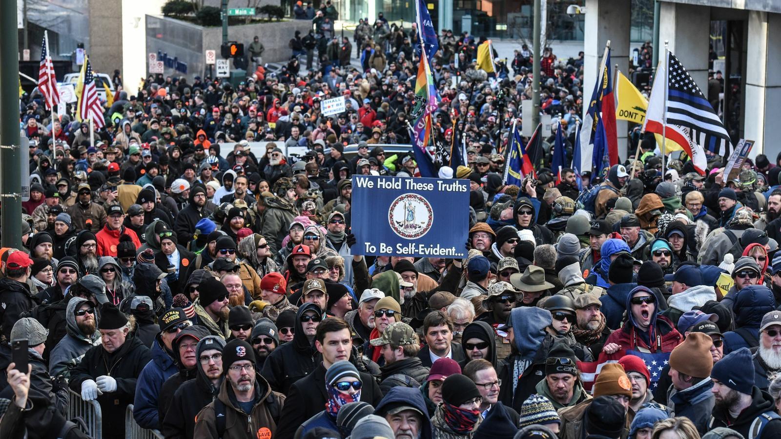 Manifestació pro-armes a Richmond (Virgínia).