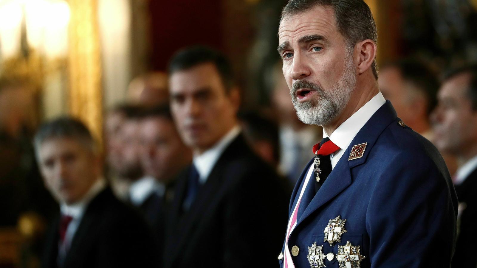 Felip VI en el discurs de la Pasqua Militar