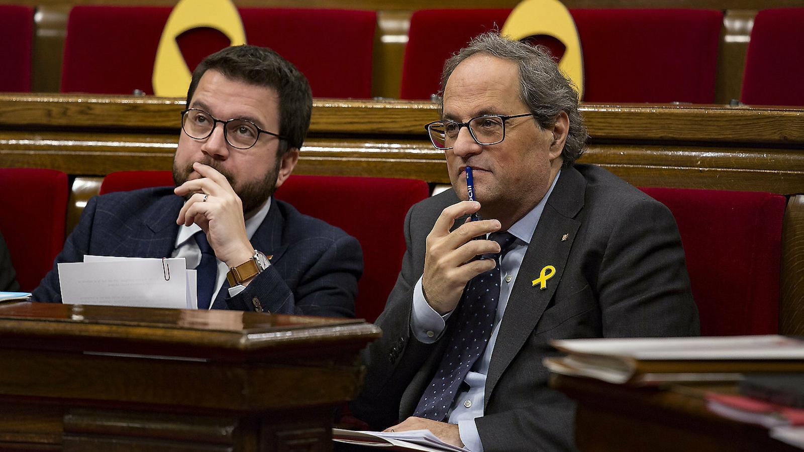EN DIRECTE | El president Torra i el vicepresident Aragonès compareixen en roda de premsa després de la reunió de Govern