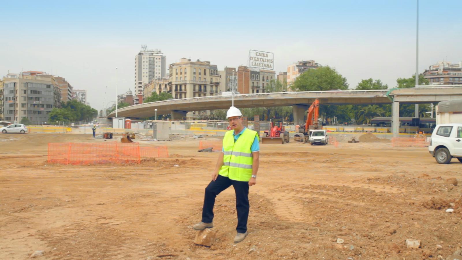 L'enderroc de la plaça de les Glòries explicat per l'enginyer Gerard Estanyol