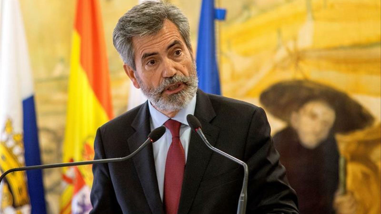 El president del CGPJ, Carlos Lesmes, en una imatge d'arxiu