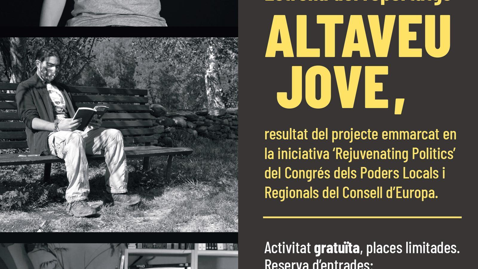 Cartell de l'estrena del reportatge 'Altaveu jove'. / COMÚ D'ANDORRA LA VELLA