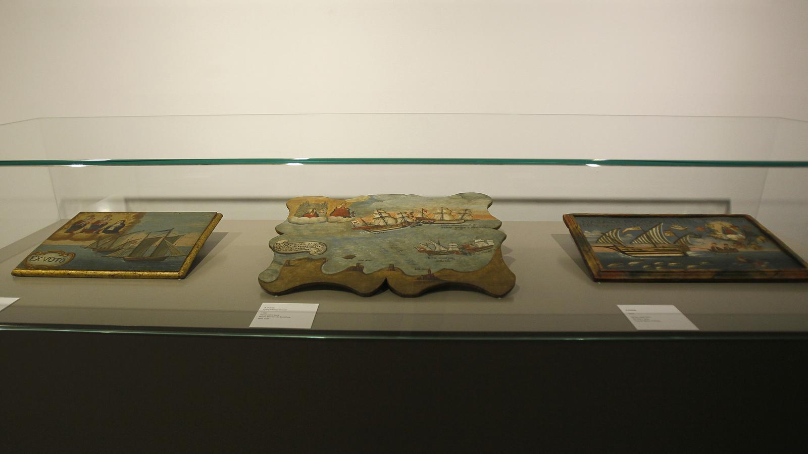 Peces de l'exposició al museu de Mallorca sobre la figura del capità Antoni Barceló.