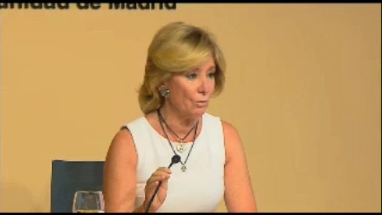 Esperança Aguirre anuncia que dimiteix com a presidenta de la Comunitat de Madrid i diputada regional del PP