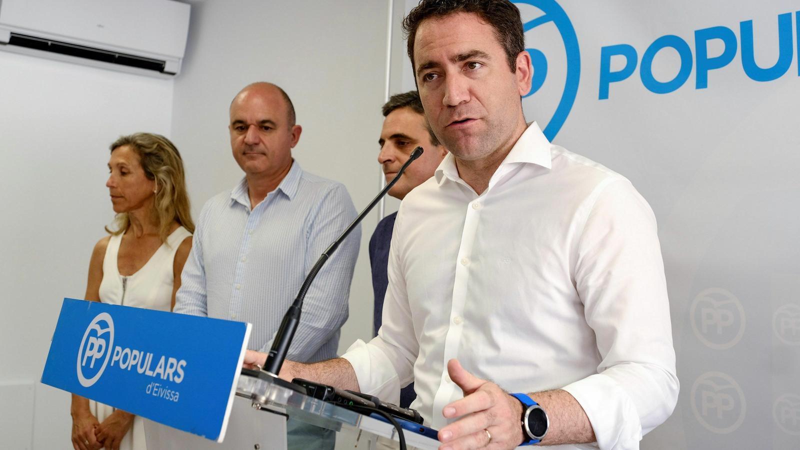 Teodoro García Egea ha fet declaracions després de la Junta directiva del PP d'Eivissa