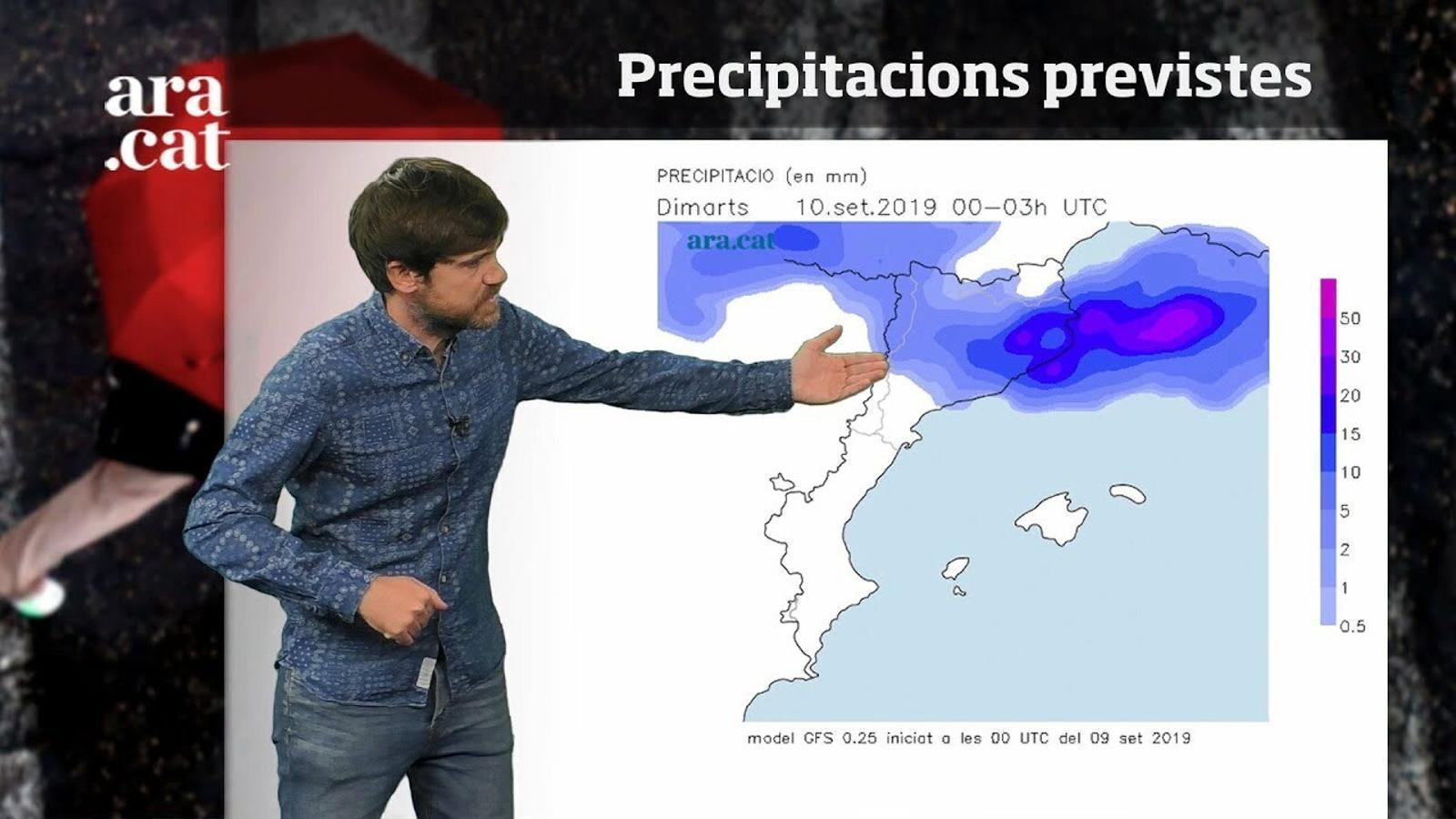 Méteo especial: aiguats i tempestes fortes entre aquesta nit i dimarts