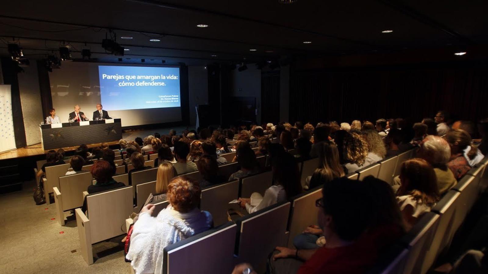Imatge de la sala durant la conferència.