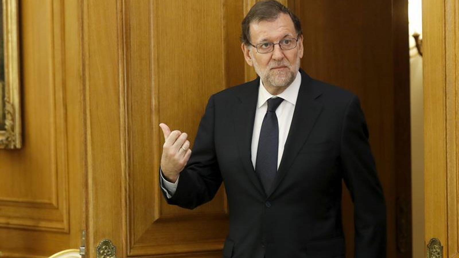 Mariano Rajoy, a la Zarzuela / EFE