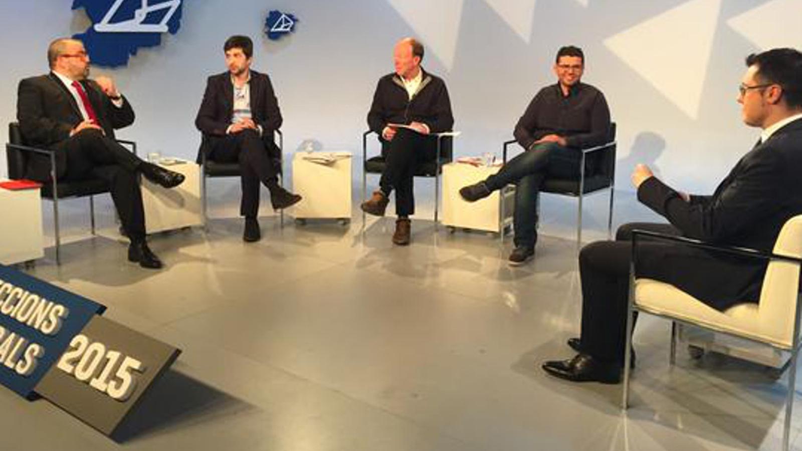 Els quatre candidats d'Ordino s'han enfrontat en el debat televisiu / RTVA