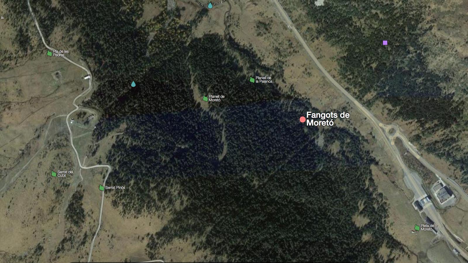 Vista per satèl·lit de la zona de l'ampliació. / GOOGLE MAPS