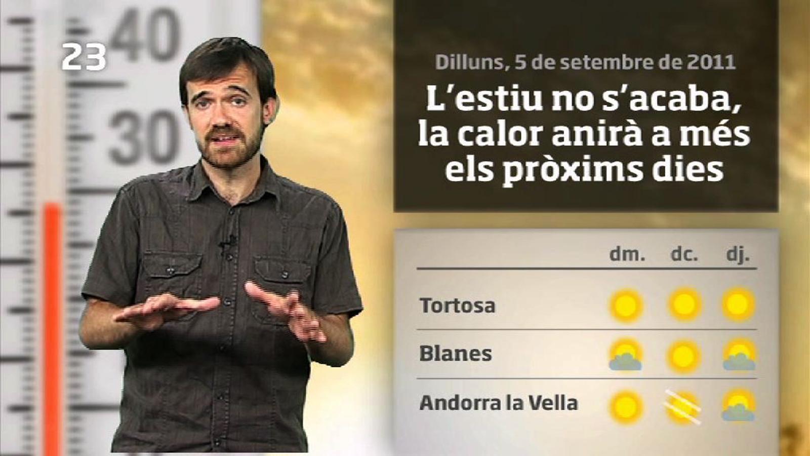 La méteo en 1 minut: l'estiu no s'acaba (05/09/2011)