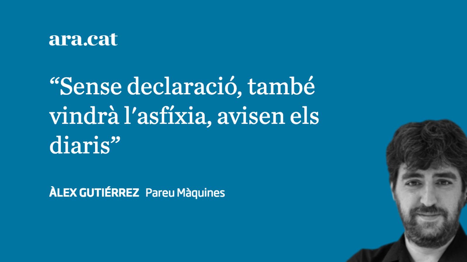 Reclamant la lliura de carn catalana, amb DUI o sense