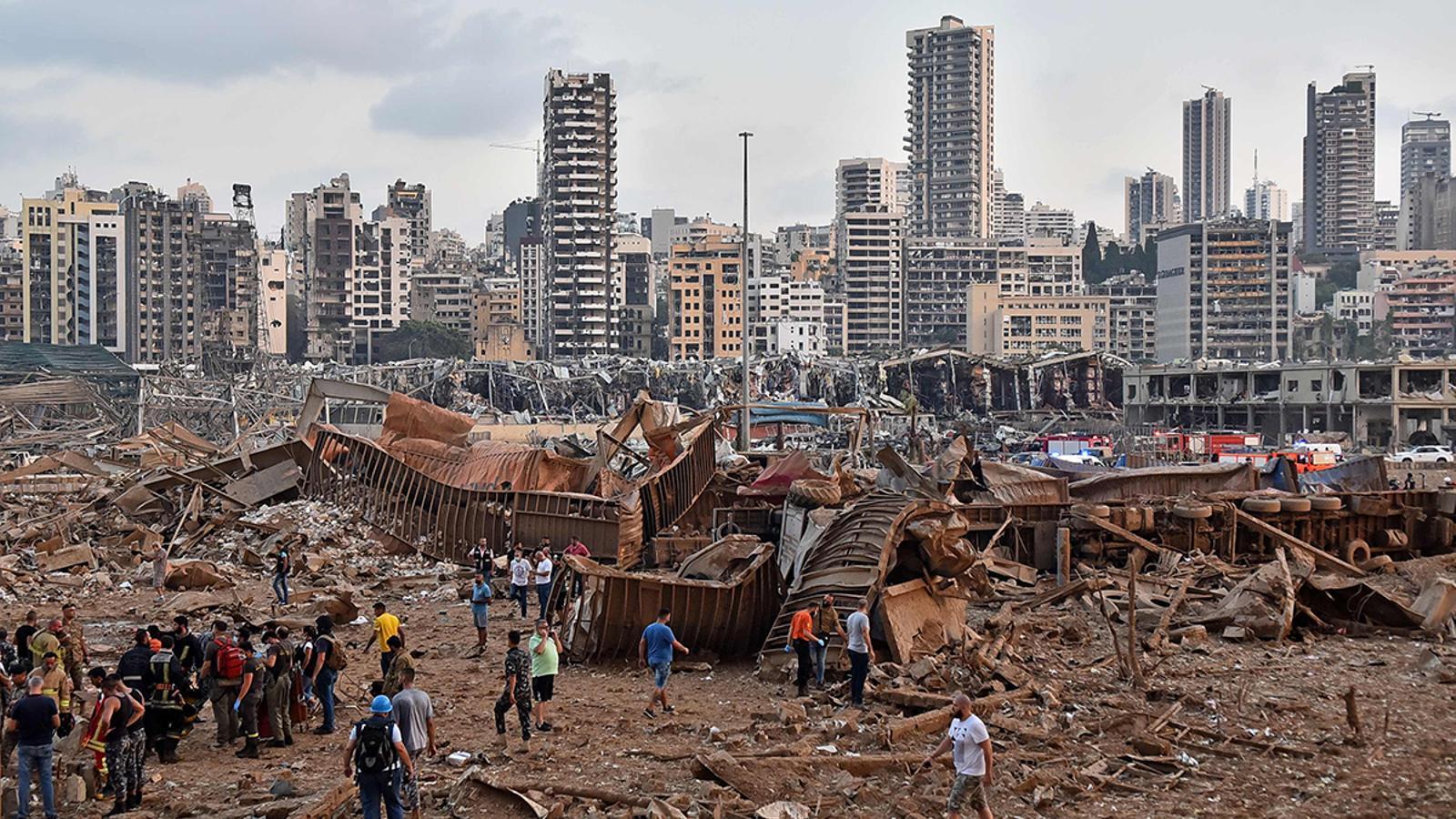 Visió general del lloc de l'explosió