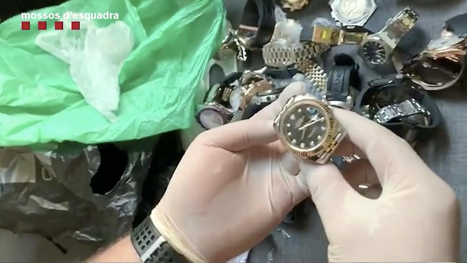 Robatoris de rellotges de luxe per encàrrec: de Barcelona a l'estranger