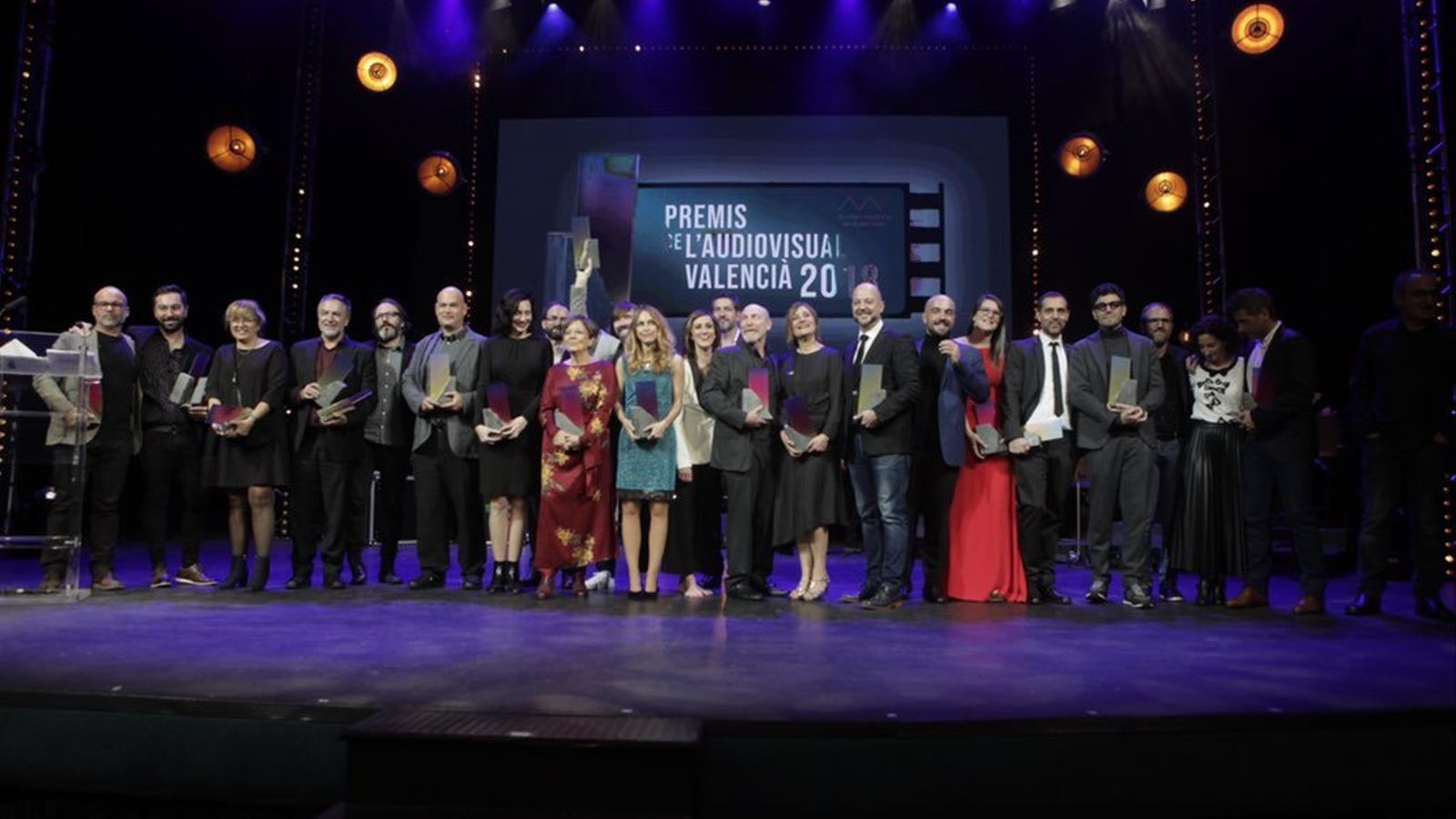 Els guardonat en els primers Premis de l'Audiovisual Valencià