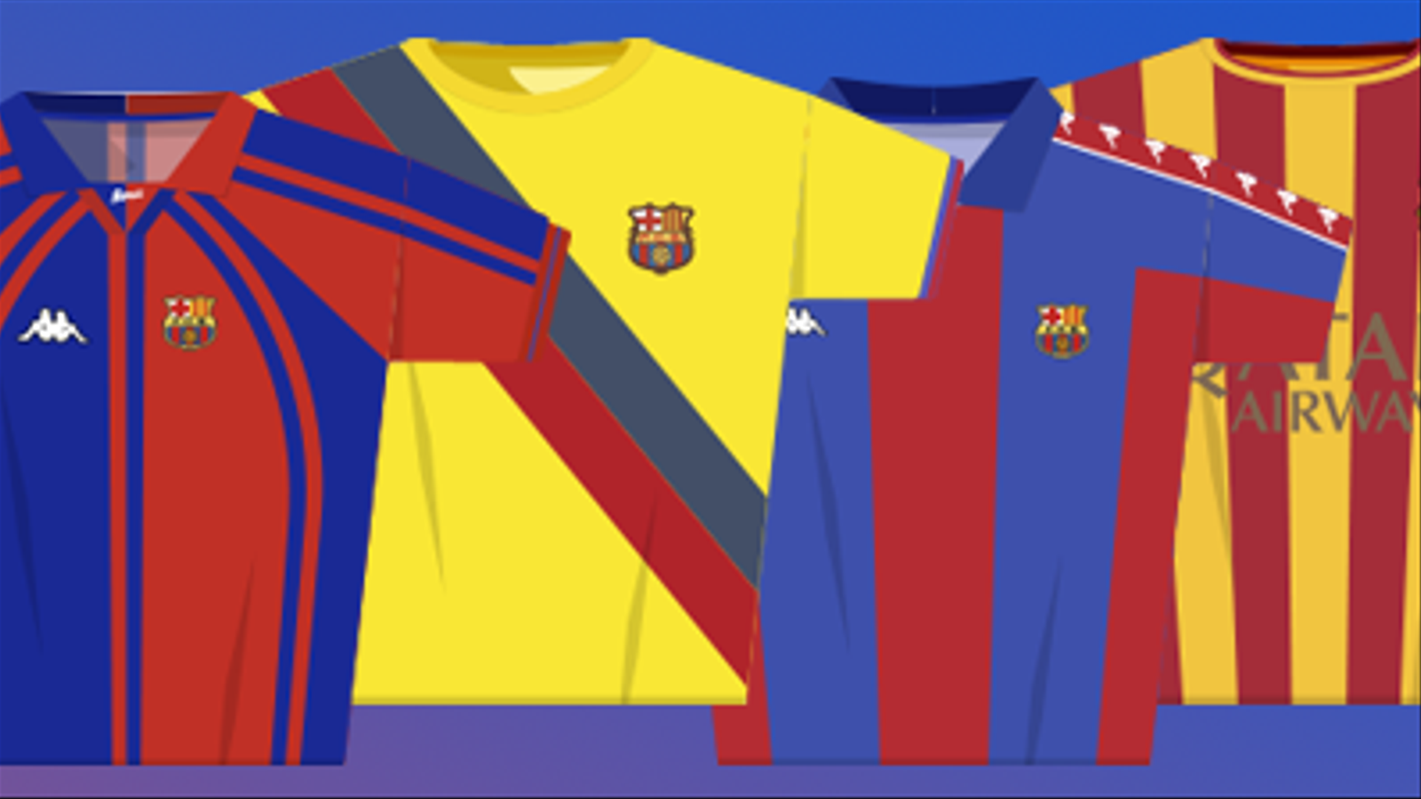 Consulta totes les equipacions de la història del Barça