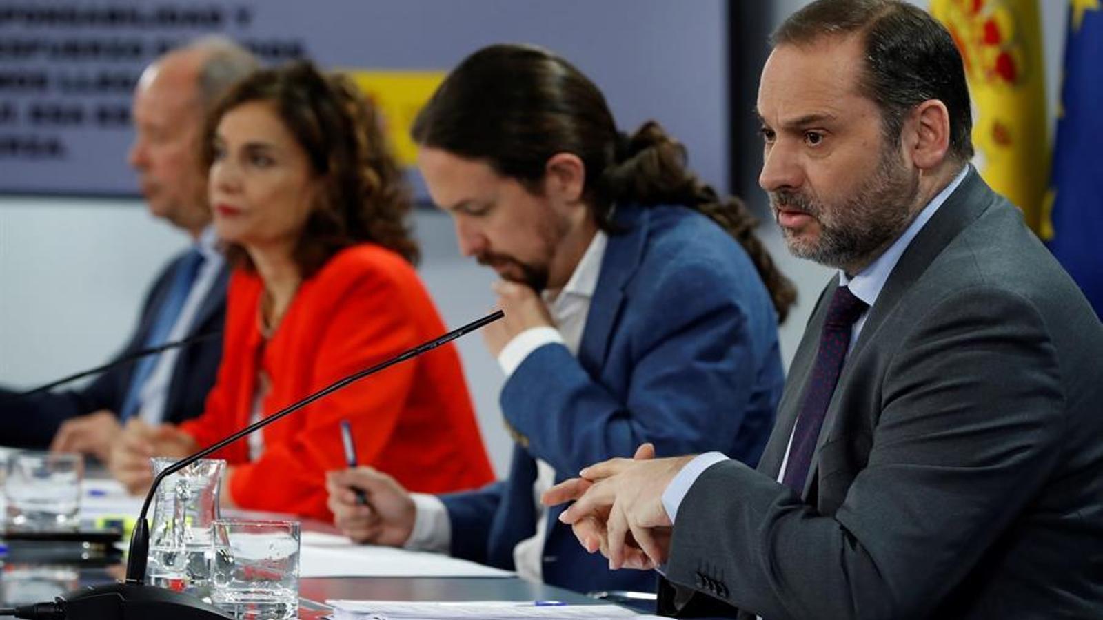 Roda de premsa del consell de ministres d'aquest dimarts