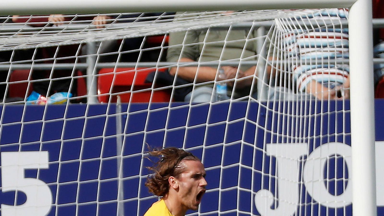Antoine Griezmann va ser l'autor del primer gol del Barça en el triomf blaugrana ahir a Ipurua contra l'Eibar.