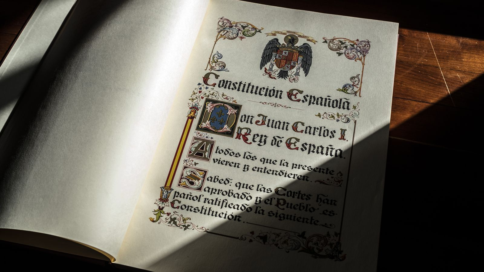 Exemplar de la Constitució Espanyola