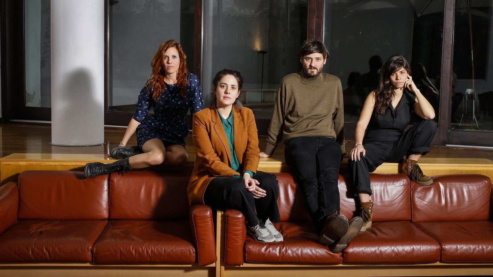 D'esquerra a dreta: Neus Ballús, Lucia Alemany, Carlos Marques-Marcet i Belén Funes
