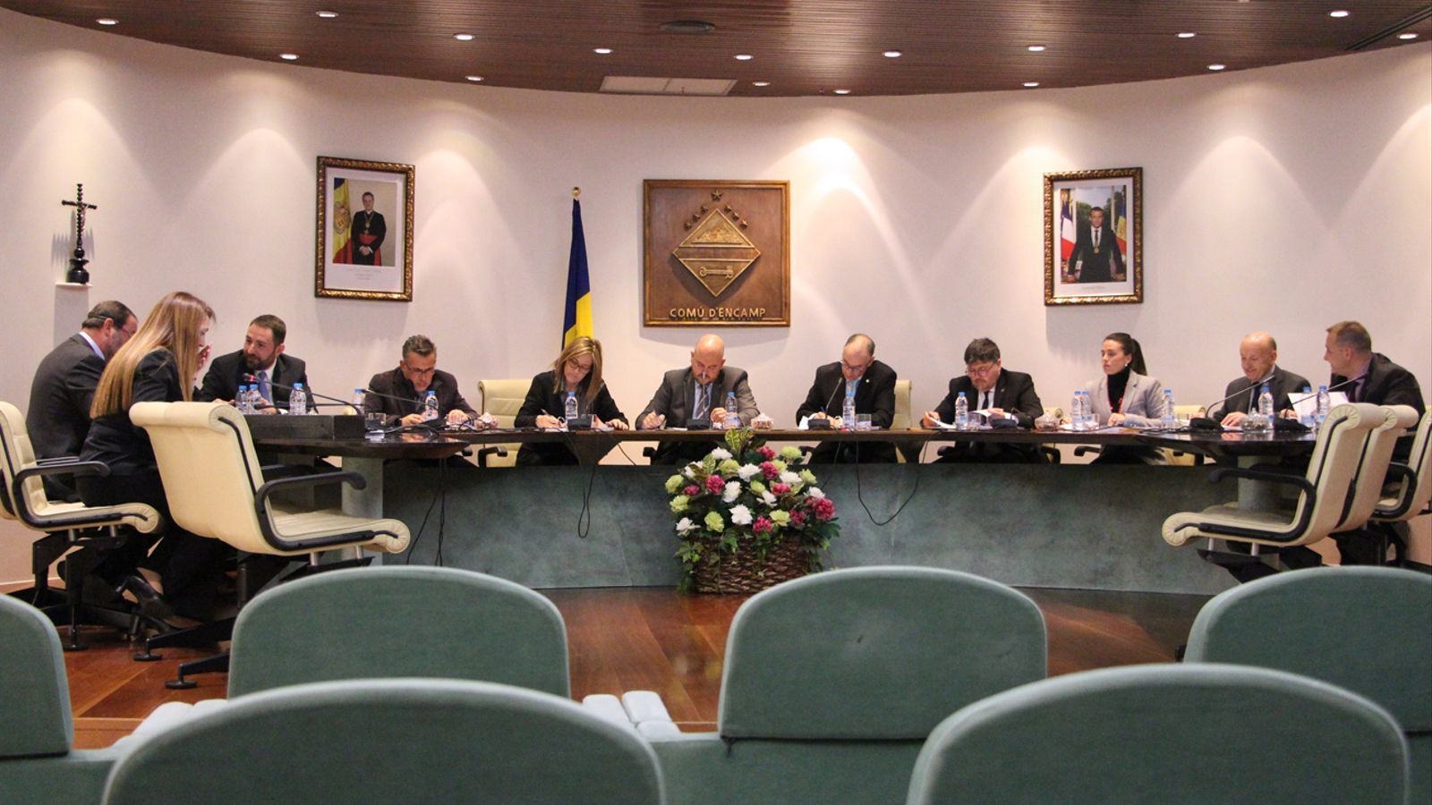 Sessió de consell de comú celebrada aquest dijous. / T. N. (ANA)