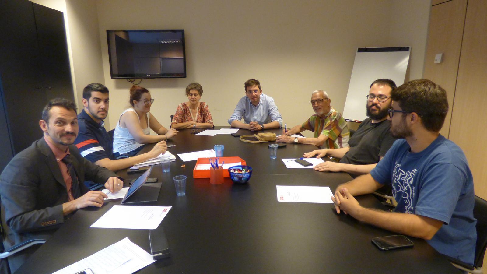La primera reunió de la nova executiva del PS, aquesta tarda. / PS