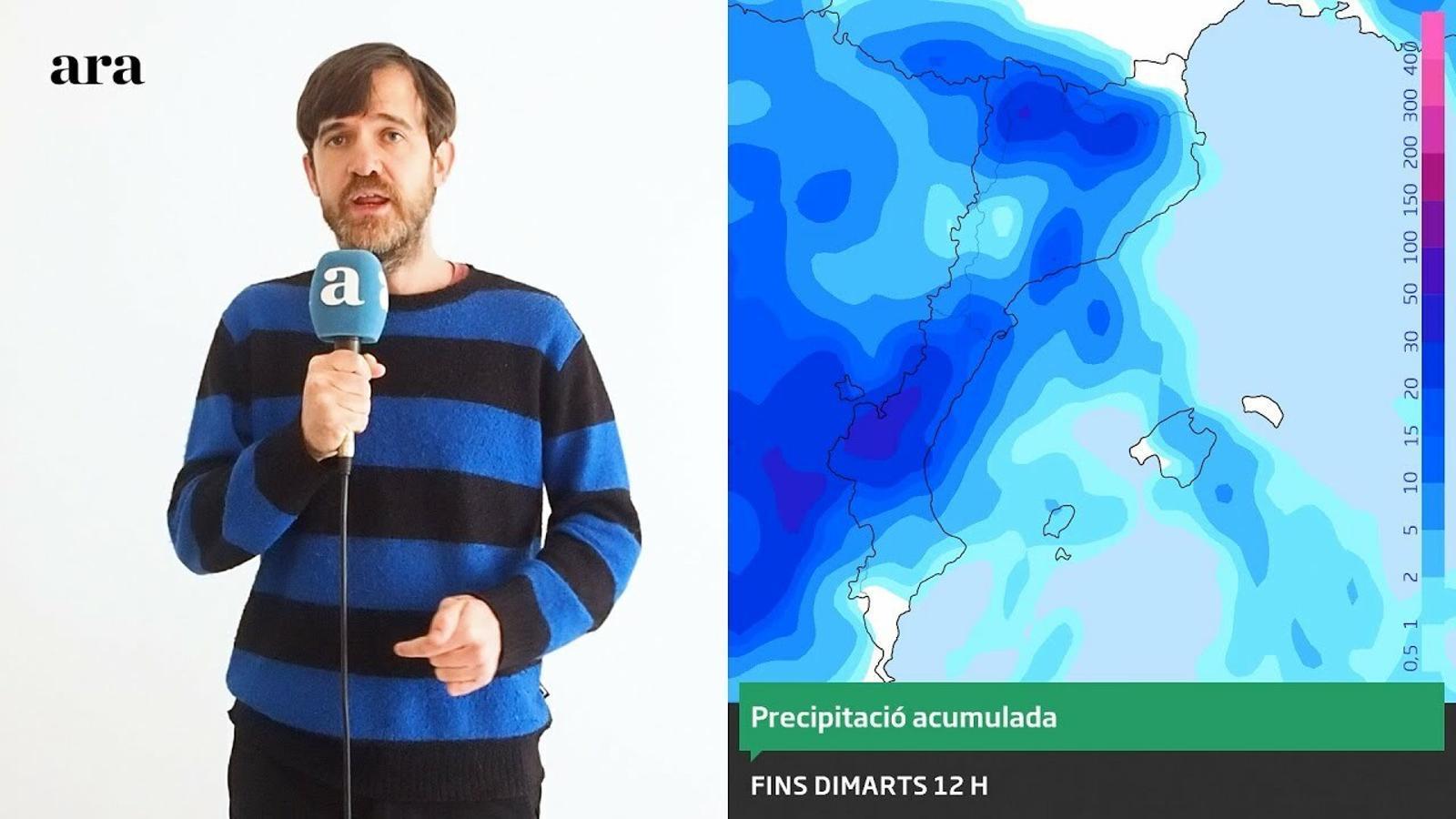 La méteo: setmana de pluges abundants i clarianes escasses