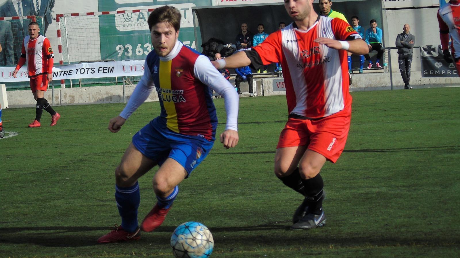 El partit de l'Andorra al Camp Municipal de Viladecans, diumenge. / FCA