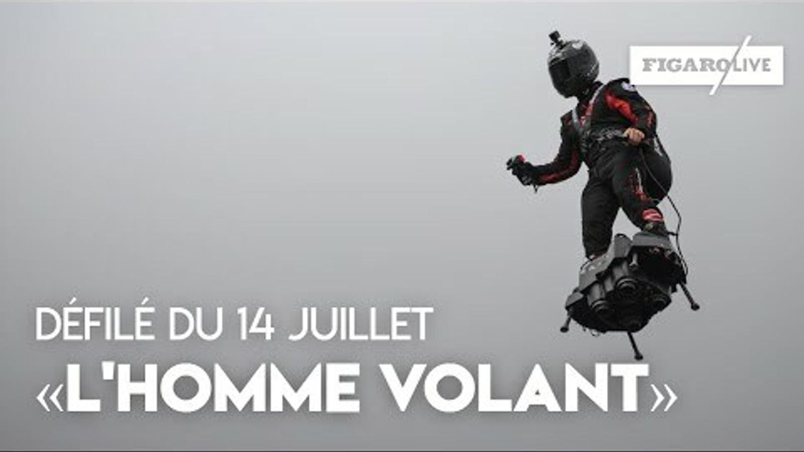 Macron fa del 14 de Juliol una exhibició d'unitat militar europea. Un 'soldat volador' sorprèn els assistents a la desfilada dels Camps Elisis