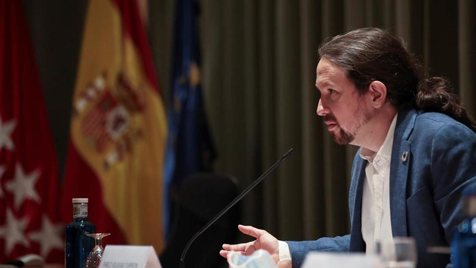 El vicepresident segon del govern espanyol, Pablo Iglesias, en una imatge d'arxiu.