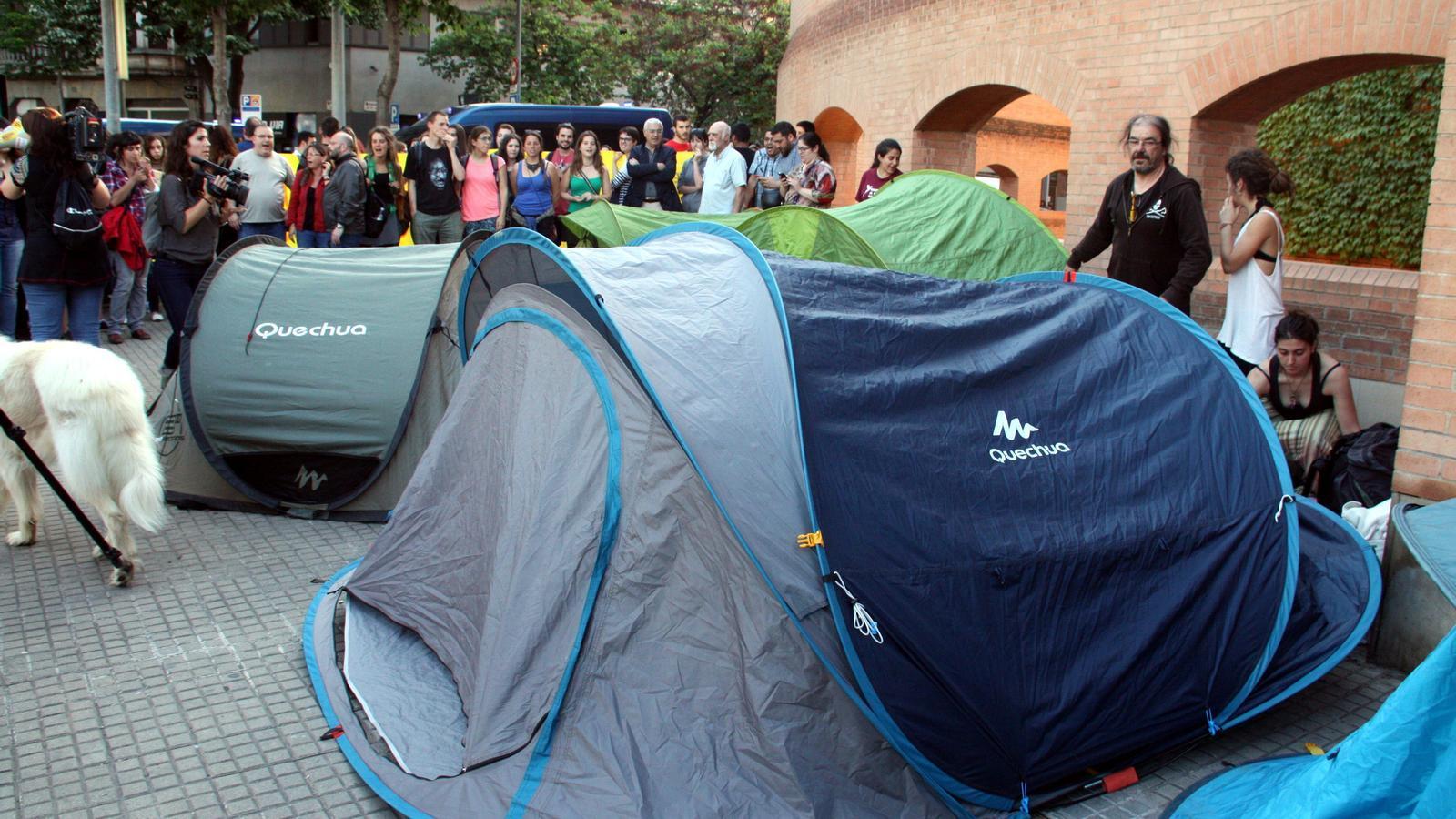 Un moment de l'acampada / ACN