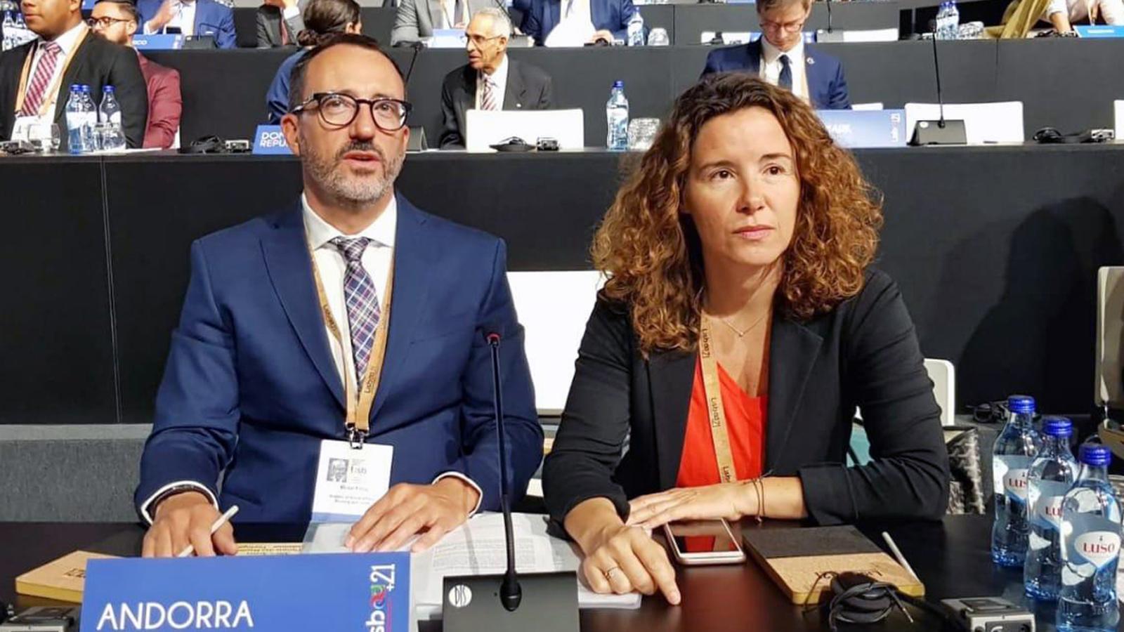 El ministre d'Afers Socials, Habitatge i Joventut, Víctor Filloy, a la Conferència Mundial de Ministres de Joventut 2019 i Fòrum de Joventut +21. / SFGA